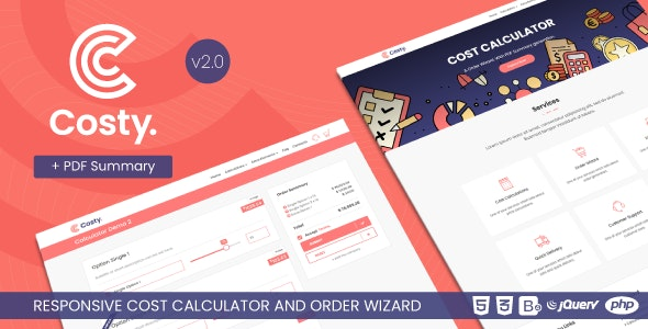 Costy v2.1 - Cost Calculator and Order Wizard preview image
