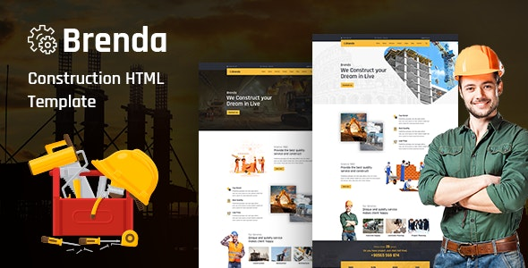 Brenda v1.0 - Construction HTML5 Template preview image