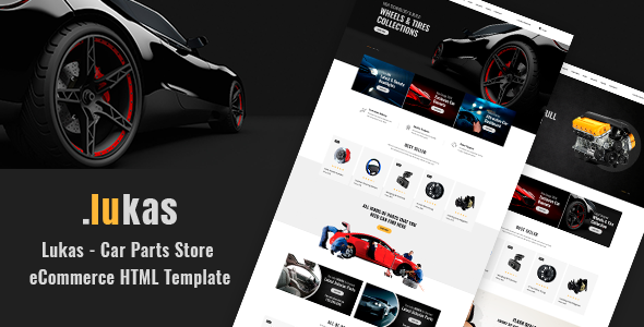 Lukas v1.0 - Car Parts Store eCommerce HTML Template preview image