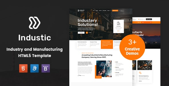Industic v1.0 - Factory and Manufacturing HTML5 Template preview image