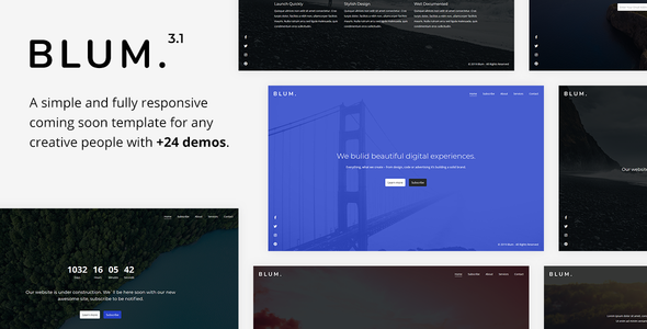 Blum v3.1 - Responsive Coming Soon Template preview image