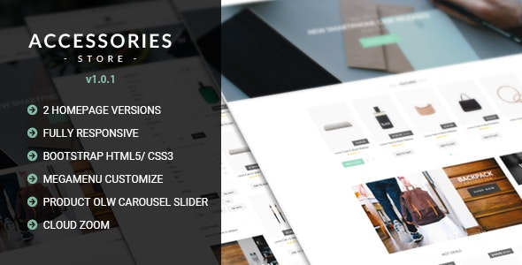 Accessories v1.0.1 - Multi Store Responsive HTML Template preview image