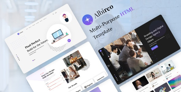 Albireo v1.0 - Creative One Page HTML5 Template preview image