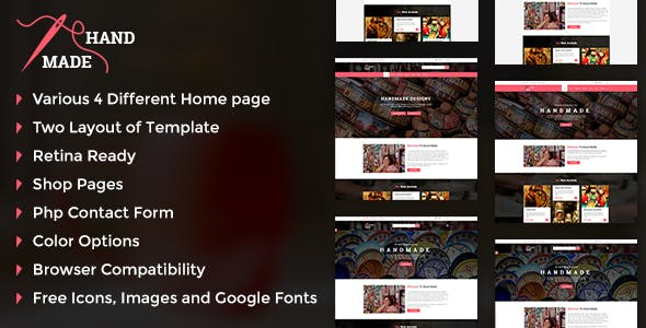 Handicraft - Handmade Product Shop Template preview image