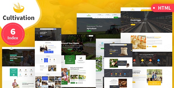 Cultivation Multipurpose Responsive HTML Template v1.0 preview image