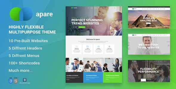 Apare v1.0 - Responsive Multipurpose HTML5 Template preview image