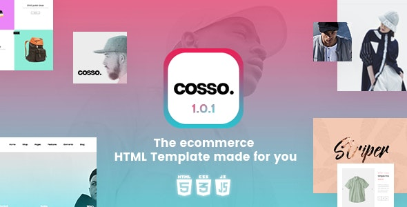 Cosso v1.0.1 - Clean, Minimal Responsive HTML Template preview image