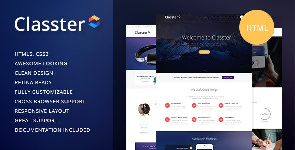 Classter v1.1 - Multi-Purpose HTML Theme preview image