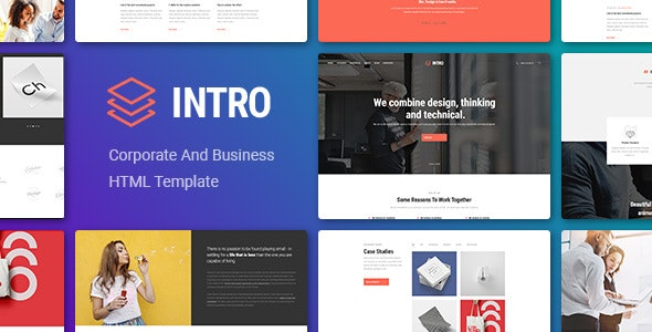 INTRO v1.0 - Corporate And Business HTML Template preview image