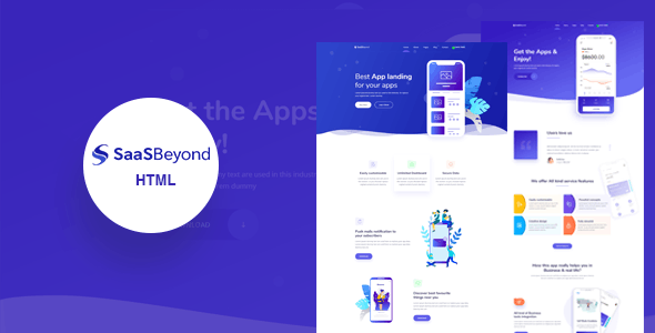 SassBeyond v1.0 - Sass & Software Landing Page Template preview image