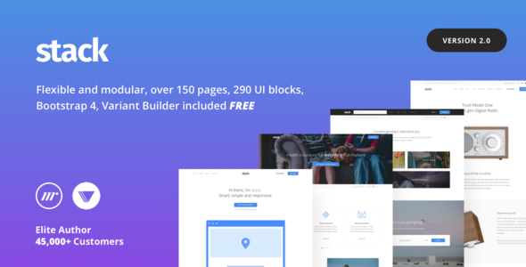Stack v2.0.6 - Multi-Purpose HTML with Page Builder preview image