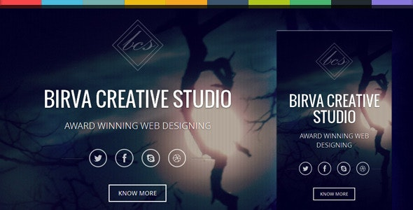 Birva v1.0 - Bootstrap Parallax One Page Template preview image
