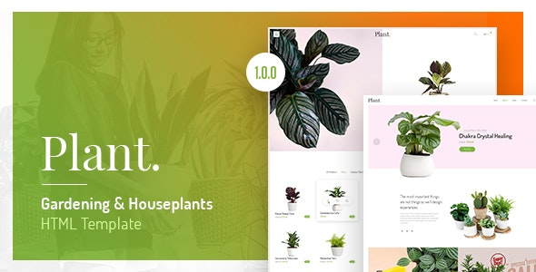 Plant v1.0.0 - Gardening & Houseplants HTML Template preview image