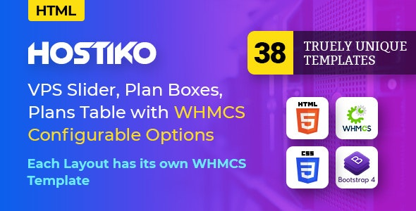 Hostiko - Hosting HTML & WHMCS Template With Isometric Design (8 February 2020) preview image