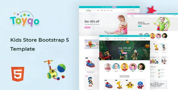 Toyqo v1.0 - Kids Store Bootstrap 5 Template preview image
