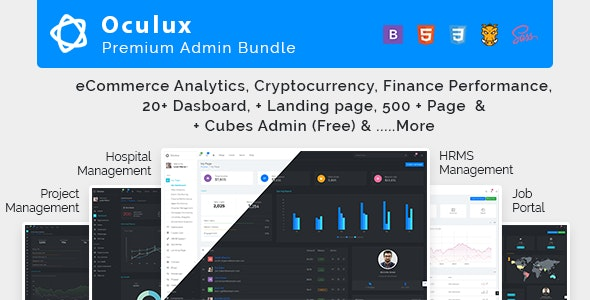 Oculux Mega Bundle v2.7.0 - Responsive Admin Dashboard Template & ui kit preview image