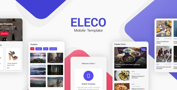 Eleco v1.0 - Mobile Template preview image