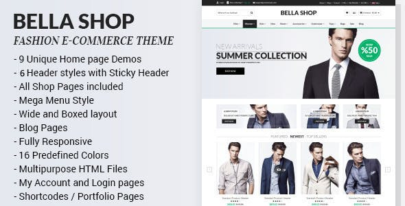 Bella v1.4 - eCommerce HTML Shop with RTL preview image
