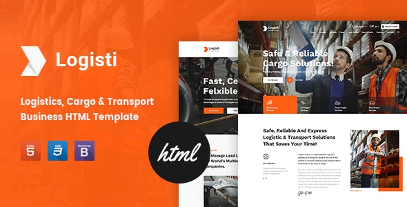 Logisti v1.1 - Logistics & Transport HTML5 Template preview image